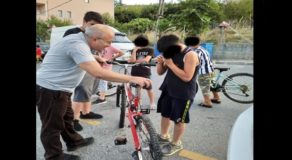 Young Boy Cries After Crashing Old Bike Into Car, Owner Gives Him New Bike