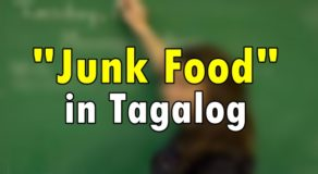 "Junk Food in Tagalog – Translate ""Junk Food"" in Tagalog"