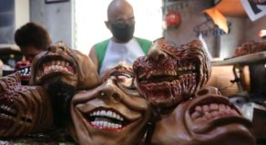 Freelance Makeup Artist Makes Handcrafted Masks for Halloween Season