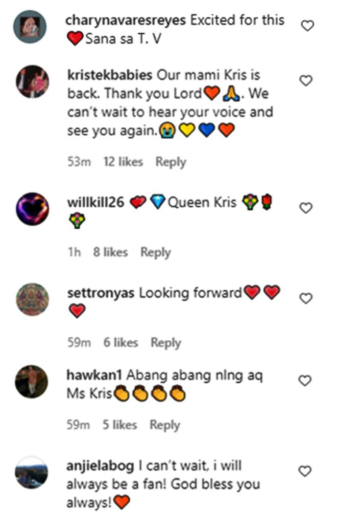 kris aquino comments