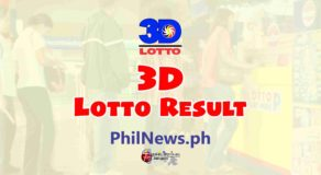 3D LOTTO RESULT Today, Tuesday, January 26, 2021