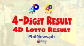 4D LOTTO RESULT Today, Wednesday, November 25, 2020