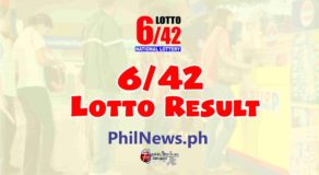 6/42 LOTTO RESULT Today, Thursday, February 25, 2021