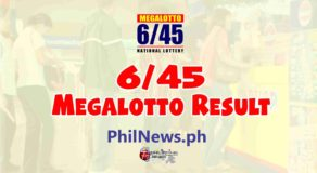 6/45 LOTTO RESULT Today, Monday, January 25, 2021