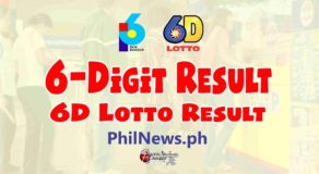 6D LOTTO RESULT Today, Saturday, March 6, 2021