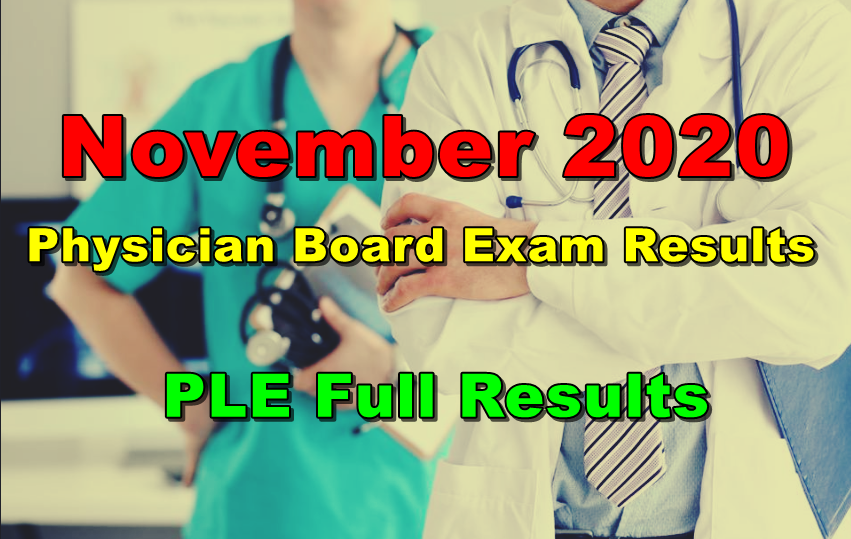 Physician Board Exam Results
