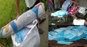 Lady Netizen Exposes Cheap Pillow Containing Used Face Masks Instead of Cotton