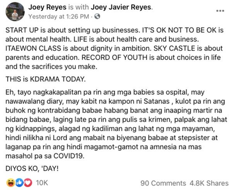 joey reyes post