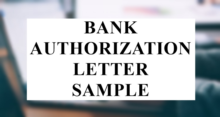 Bank Authorization Letter Sample