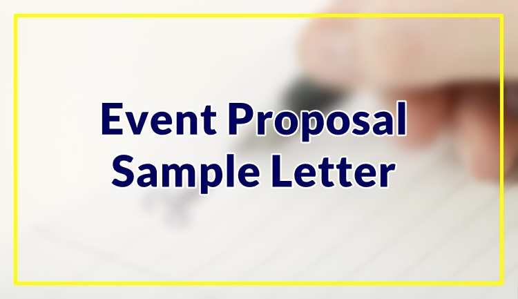 Event Proposal Sample Letter