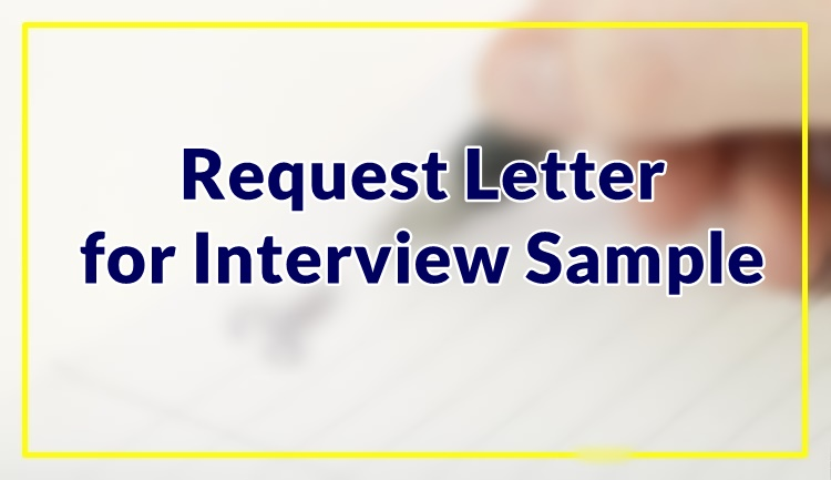 Request Letter for Interview Sample