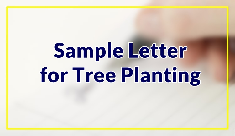 Sample Letter for Tree Planting