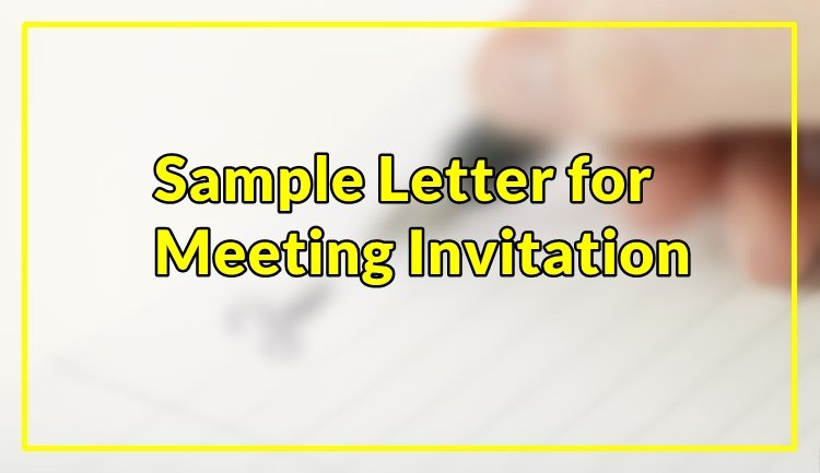 Sample Letter for Meeting Invitation