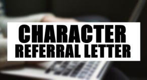 Character Referral Letter