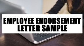 Employee Endorsement Letter Sample