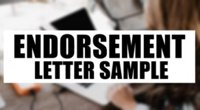 Endorsement Letter Sample (with Guide and Tips)