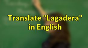 "Lagadera in English – Translate ""Lagadera"" in English"