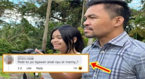 "Manny Pacquiao Answer To ""Manliligaw"" Of Daughter Goes Viral"