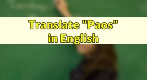 "Paos in English – Translate ""Paos"" in English"