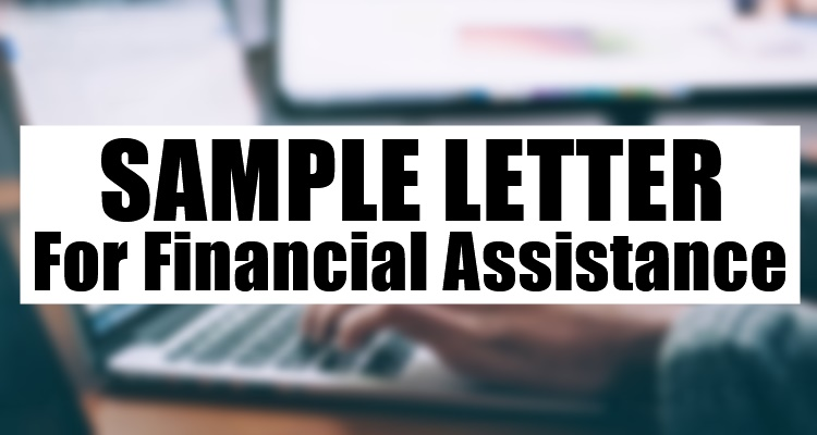 Sample Letter For Financial Assistance