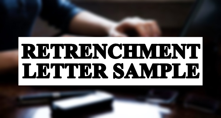 Retrenchment Sample Letter