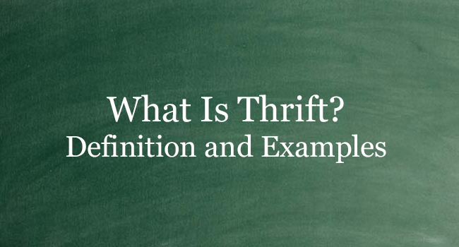 WHAT IS THRIFT