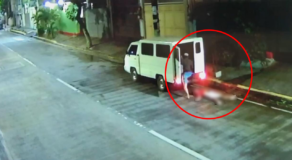 Dead Body of Alleged Holdupper Caught on CCTV Being Thrown on Ermita Street