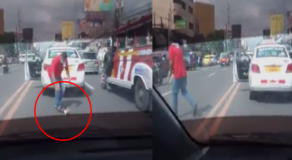 Taxi Driver Saves Stray Cat Stuck in the Middle of Road Earned Praises