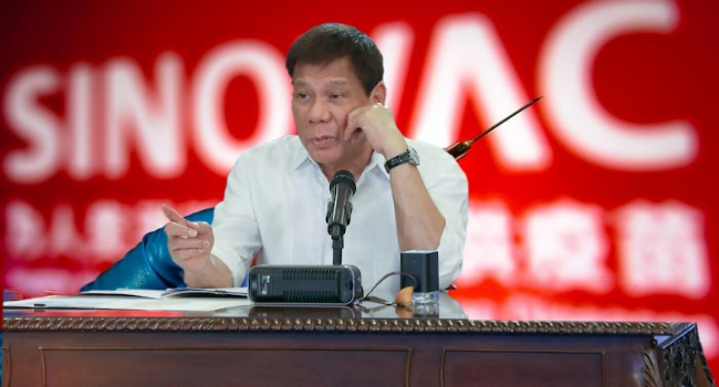 No Issue With Duterte Getting Vaccine Shot In The Butt Says IATF Experts