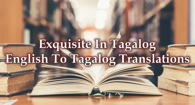 Exquisite In Tagalog – English To Tagalog Translations