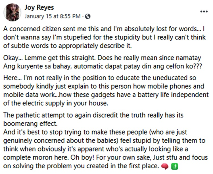 joy reyes post