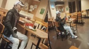 Grandpa Celebrating His Birthday Alone at Fast-Food Chain Elicit Comments Online
