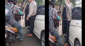 Road Rage Involving Rude Car Driver & Helpless Motorcycle Rider Goes Viral