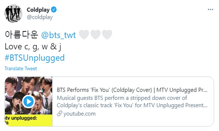 Coldplay-BTS