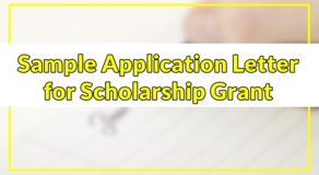 Sample Application Letter for Scholarship Grant