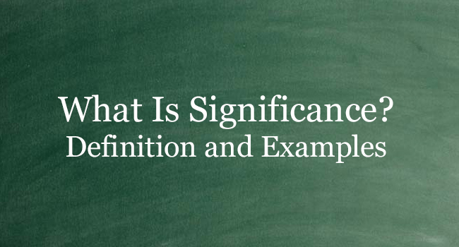 What Is Significance