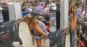 Lady Customer Removes Her Thong & Use It as Face Mask at Supermarket