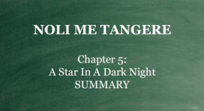 "Chapter 5 Noli Me Tangere – ""A Star In A Dark Night"" (SUMMARY)"