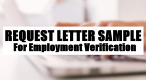 Request Letter Sample For Employment Verification