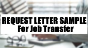 Request Letter Sample For Job Transfer