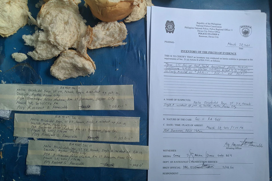 Bread Containing Illegal Drugs