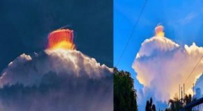Mysterious Cloud Spotted in Oriental Mindoro Earns Various Speculations Online