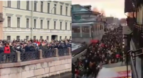 """Thousands Of Russians Protest Chanting """"Putin Is A Killer"""" Get Arrested"""
