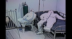 2 Nursing Attendants Caught on CCTV Taking Quick Rest Amid Exhausting Job