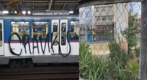 MRT Management Looks For People Witnessed Train Vandalism Incident