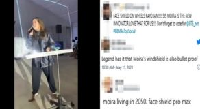 Moira Dela Torre Viral Video With Giant Shield, Netizens React