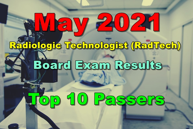 Radiologic Technologist Board Exam Results