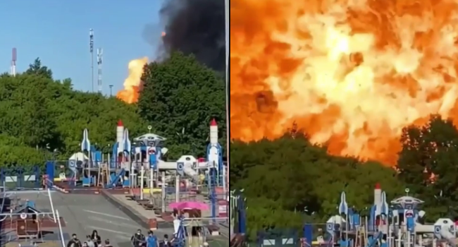 Large Explosion In Russia Cause Panic As Bystanders Desperately Flee