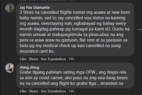 OFWs In UAE Desperate For Help, Many Stranded Due To Travel Bans