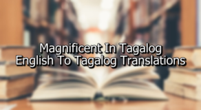 Magnificent In Tagalog – English To Tagalog Translations